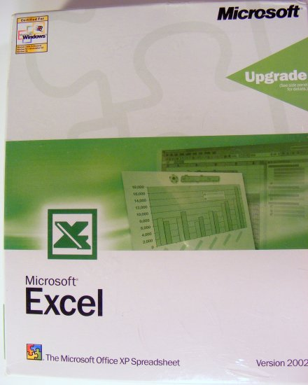 Sealed Genuine Microsoft Excel 2002 XP Upgrade CD-ROM New BBBF10