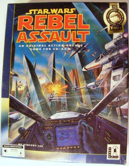 1993 Star Wars REBEL ASSAULT LucasArts PC CD Game BOXED