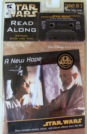 A New Hope Read-Along: With Book  1997 (Star Wars (Little Brown Audio))  Sealed