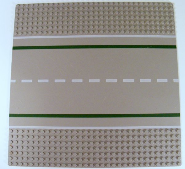 Green 32x32 dots Baseplate Road 7-Stud Straight with Road Pattern 80547 B41