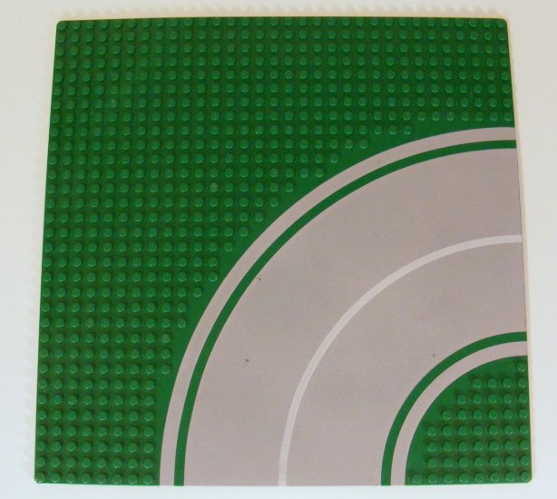 Green 32x32 Baseplate 32 x 32 Road 8-Stud Curve with Pattern 613p01 B43