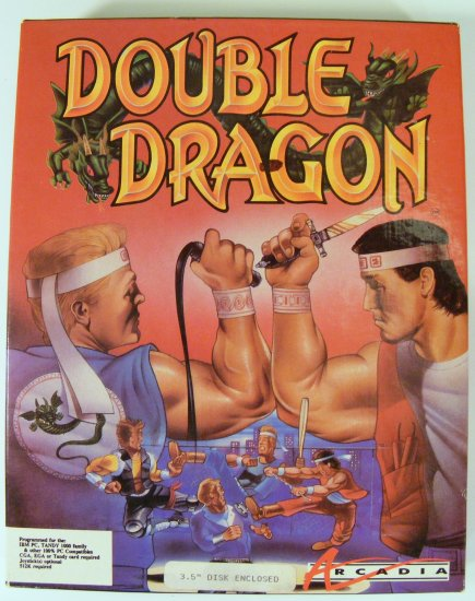 1988 Tradewest Double Dragon for DOS with Box
