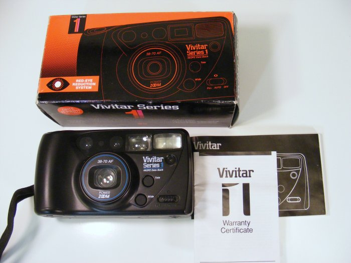 Vivitar Series 1 460PZ Data Back Zoom 35mm Film Camera in Box Date