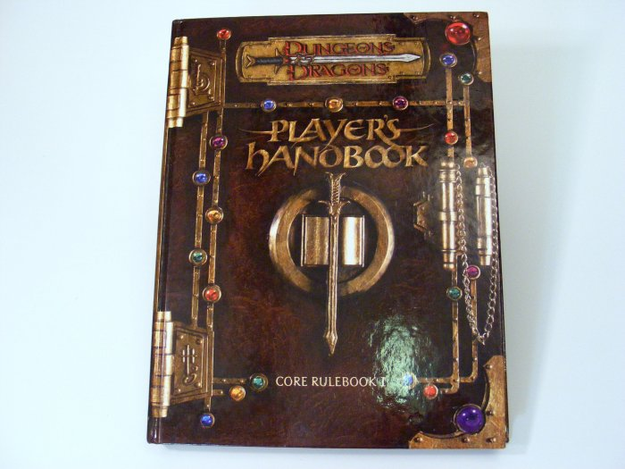 AD&D Player's Handbook 3rd Edition D&D Core Rulebook No CD TSR1111550