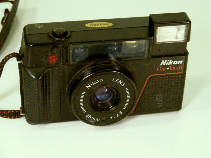 Used NIKON 35mm Camera One Touch f2.8 Lens Works Great