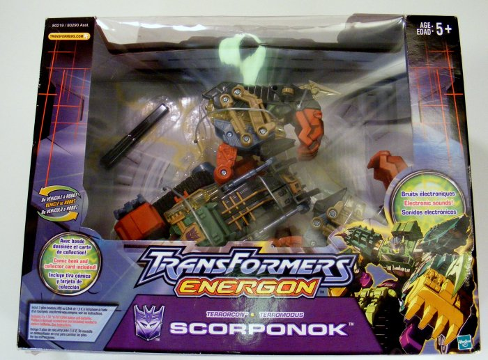 TRANSFORMERS Energon Scorponok NIB New Mint