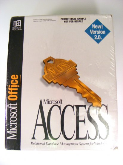 NEW Microsoft Access 2.0 for Windows 3.1 Sealed 3.5