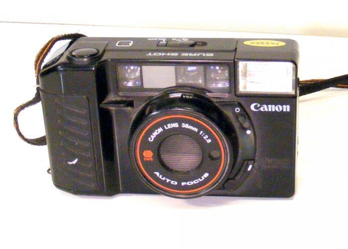 Vintage Canon Sure Shot 35mm Auto Focus Film Camera Sureshot