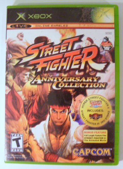 Street Fighter Anniversary Collection for XBox Used