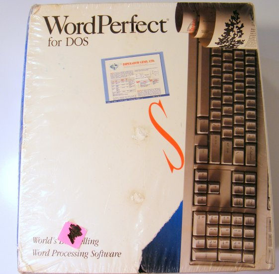 NEW Vintage WordPerfect 5.1 for DOS 3.5 Sealed Shrink Wrapped