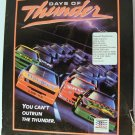 """DAYS OF THUNDER 1990 Mindscape PC DOS Game BOXED 3.5"""" 5.25"""" Disks"""