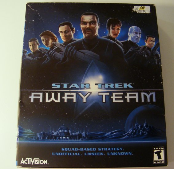 Star Trek Away Team RTS PC GAME w Original Box Activision