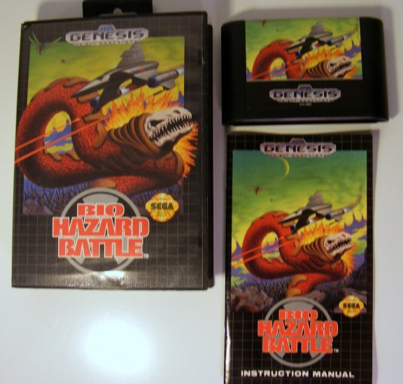 Sega Genesis Game Bio Hazard Battle Complete Rare