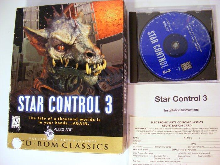 Star Control 3 PC GAME w Original Box Boxed