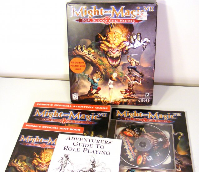 Might and Magic VII for Blood & Honor PC GAME w Original Box Boxed Strategy Guide EB Exclusive