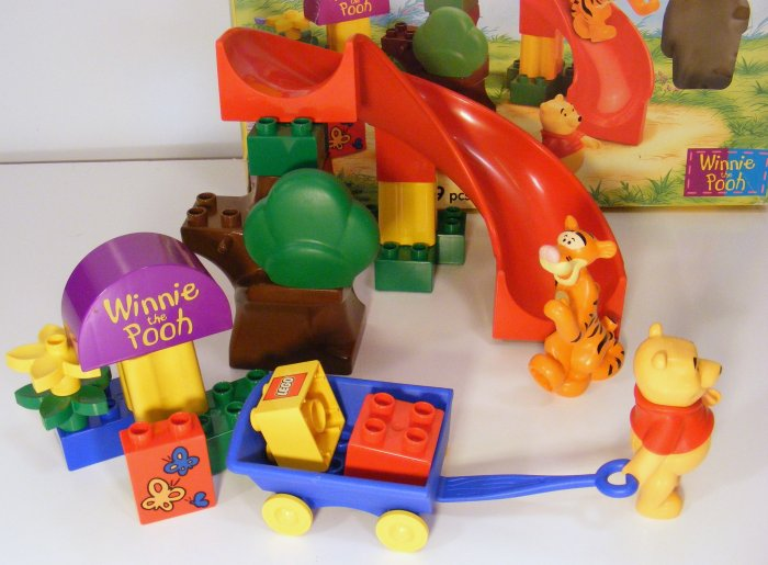 Lego Duplo Winnie the Pooh Tigger's Slide and Wagon 2985 Used