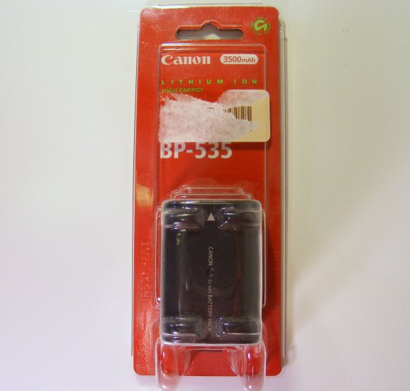 Canon BP-535 Battery Pack Li-Ion 3500mAh for ZR40 OPTURA 20 New