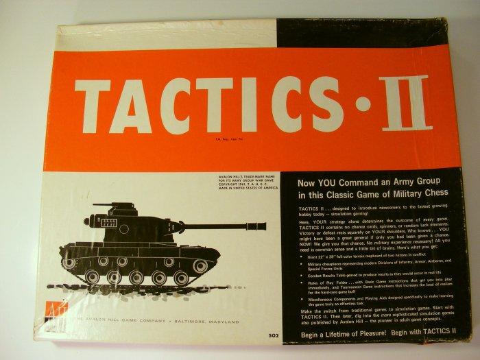 Avalon Hill Tactics II Board Game Flat Large Box 1973