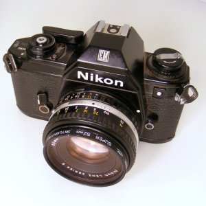 Vintage Nikon EM 35MM SLR Camera Body with Nikon Lens Series E 50MM