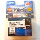 "Brother BR PT330 TZ Tape 1 PK Blk on Wht 1.5"" TZ261"