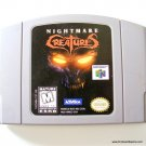 Nintendo 64 N64 Nightmare Creatures Game Cartridge