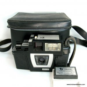 Vintage Triad Fotron III Camera with Case and Film Cartridge
