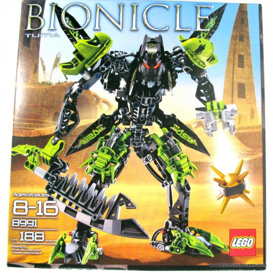 Lego 8991 TUMA with Armor, Extra Weapons and Functional Thornax Launcher (188 Pieces)