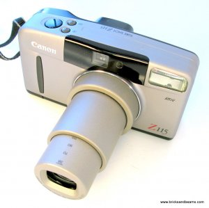 Canon Sure Shot Z115 Caption 35mm Film Camera with Strap 38-115mm