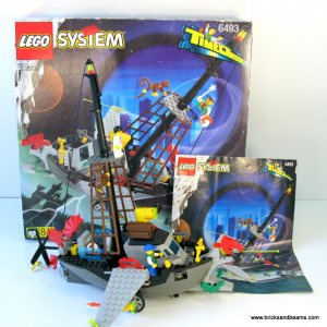 Lego 6493 Time Cruiser Flying Time Vessel w Box, Instructions, 2 mini-figs and Monkey COMPLETE