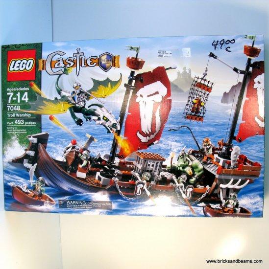 NEW Lego Castle 7048 Troll Warship Set NIB Sealed Dragon Ship