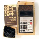 APF Mark 30 Vintage Calculator with Box Manual and AC Adapter