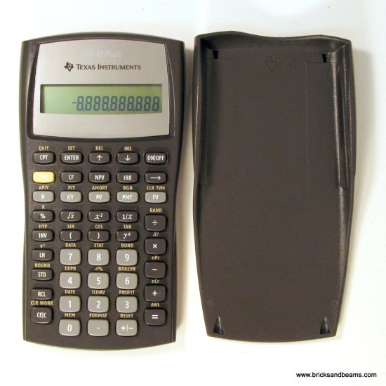 Texas Instruments TI BA II Plus Business  Calculator Used