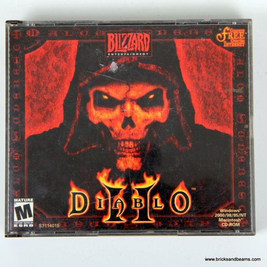 Blizzard Entertainment Diablo II PC Game Jewel Case Serial ...