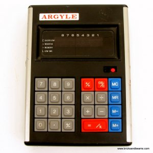 Vintage Argyle Mark 6 VI Calculator w VFD Display