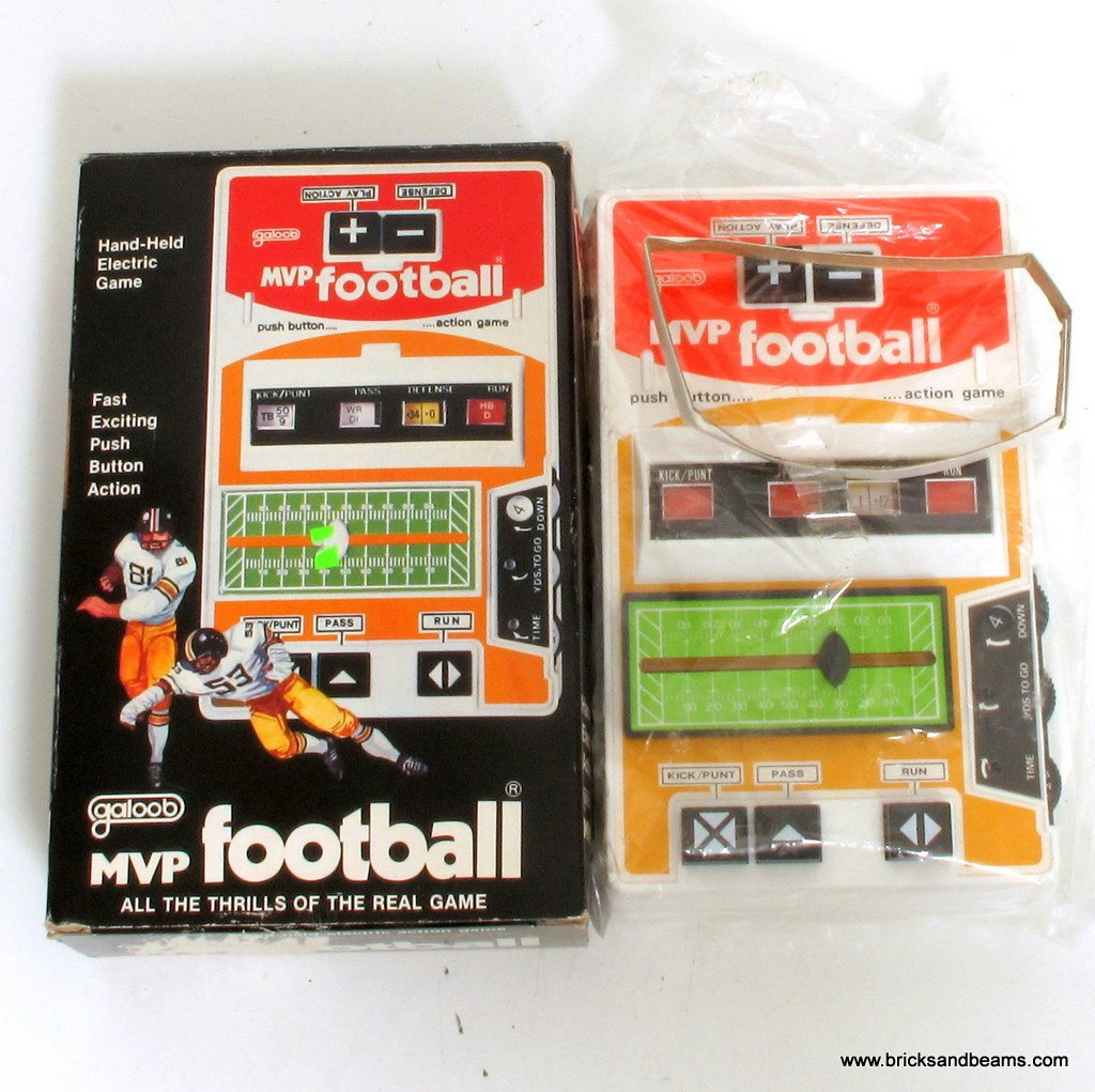 Buy electic games - Galoob MVP Football Vintage Handheld Electric Game w Box Works Great