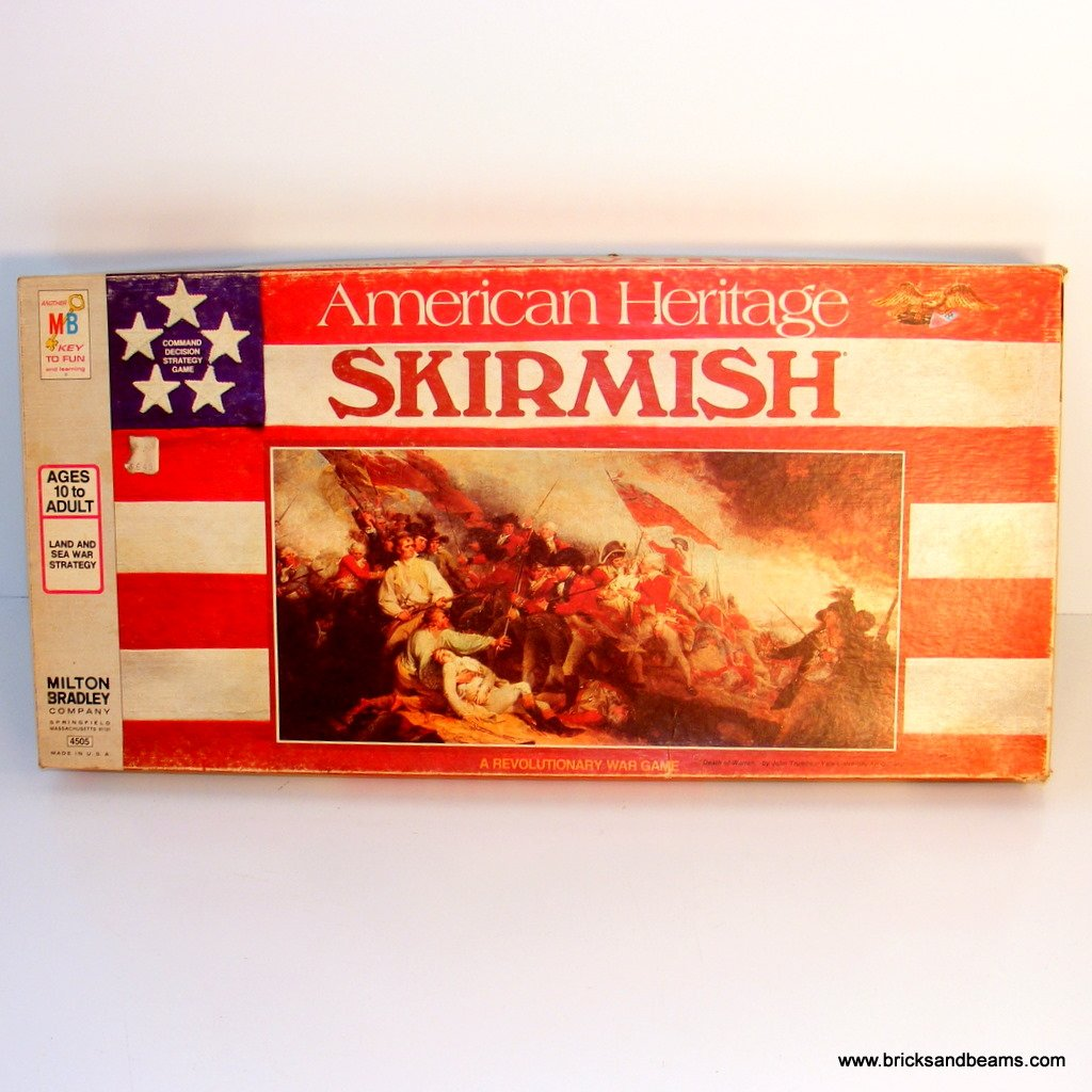 Milton Bradley American Heritage Skirmish Board Game 4505