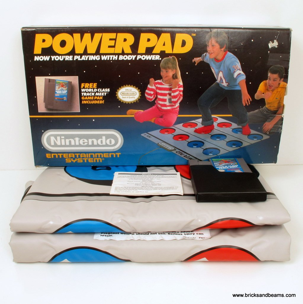 NES Nintendo Power Pad Set Complete RARE w Box Pad Game Works Great