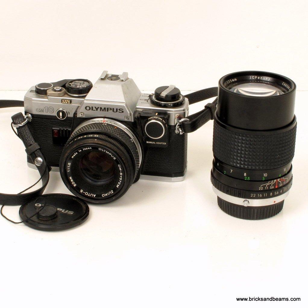 Olympus OM 10 35mm SLR FILM Camera w Manual Adapter Olympus Zuiko 1:1.8 50mm Lens Fitted Case OM10