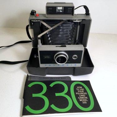 Vintage Polaroid Land Camera Automatic 330 Folding Land Camera