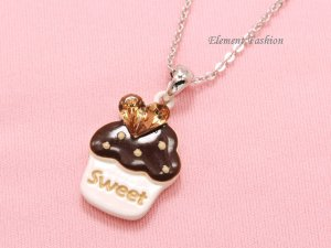 Cupcake bling necklace #AN002