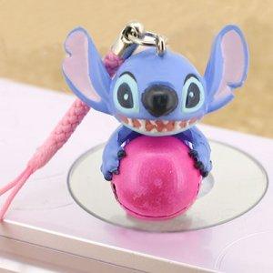 Stitch bell phone strap (pink)
