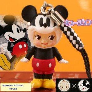 Kewpie x Disney Mickey Mouse cell phone strap