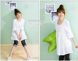 White shirt top #PT003