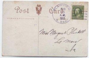 Plainview South Dakota 1910 4 Bar Cancel on Postcard DPO 1908-1972 Meade County Free Shipping!!
