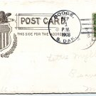 Booge South Dakota 1908 4 Bar Cancel on Postcard DPO 1891-1935 Free Shipping!!