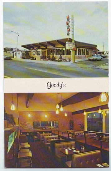 Goody's Restaurant Coffee Shop Albuquerque New Mexico Postcard Route 66 Free Shipping!!