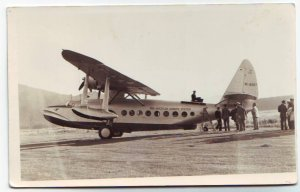 RPPC Pan American Airways S-43 Seaplane Real Photo Postcard Free Shipping!!