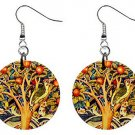 The Wonderful Tree of Life Brand New Button Earrings