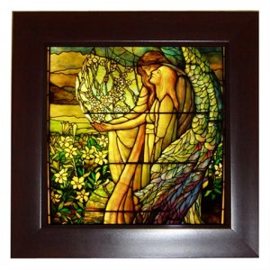 The Guiding Angel Framed Porcelain Miniature - free delivery