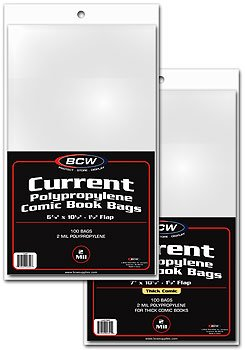 BCW 1000ct (Case) Current Comic Bags